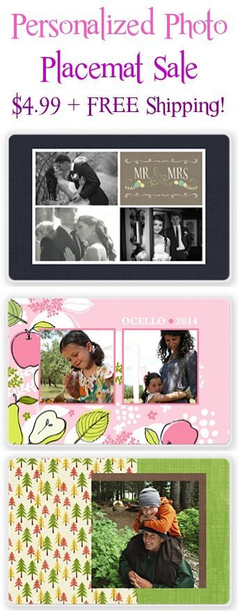 Personalized Photo Placemats Sale: $4.99 + FREE Shipping! {these make the cutest gifts!!}