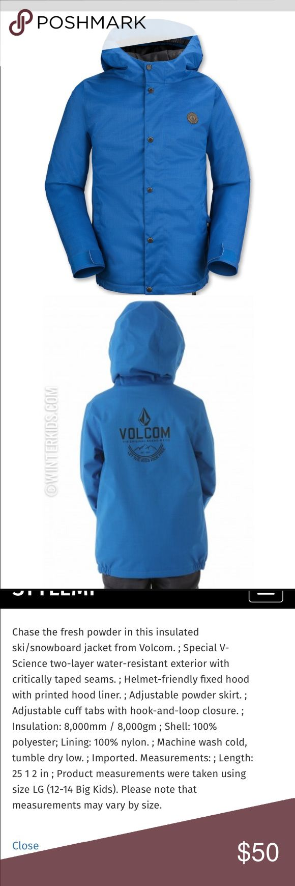 Volcom wolf insulated snowboard jacket xl youth NWT volcom boys snowboard jacket size xl would fit women small/medium I bought this for myself for snowboarding fits perfect except arms are a tad short :( awesome jacket for a great steak it is brand new with tags exact one in picture let me know if you want more pics happy to upload :) Volcom Jackets & Coats Puffers