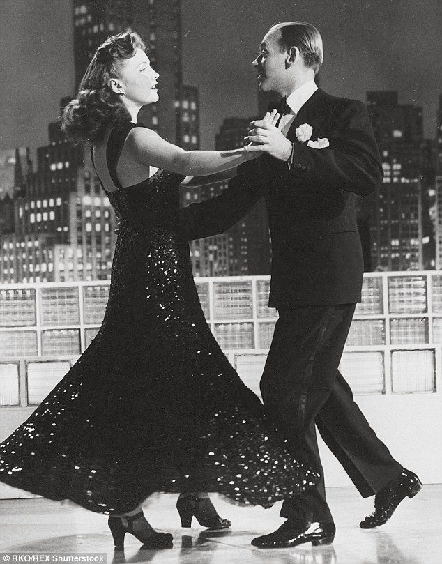 Light on their feet: Leslie and Fred Astaire twirled together in the 1943 film The Sky's The Limit