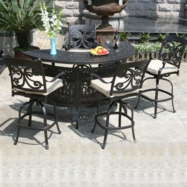 Exceptional Relax In Style With A Cast Aluminum Outdoor Bar And Bar Stools