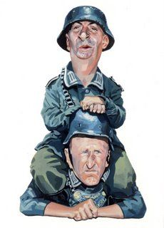 Portrait of Louis de funes and Bourvil