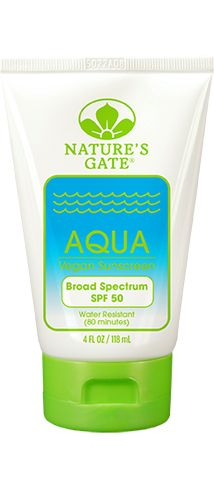 Aqua Broad Spectrum SPF 50 Sunscreen - Nature's Gate  - dont use on acne prone areas - it does contain magnesium sulfate but it has a low overall hazard according to ewg