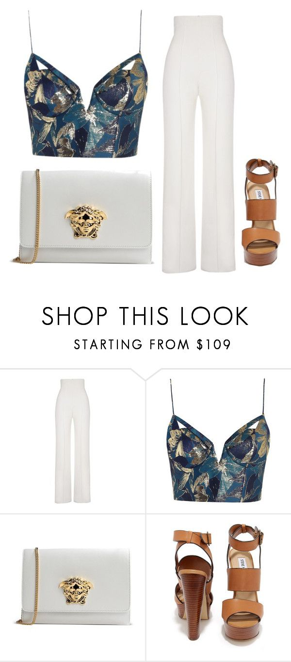 """""""Untitled #21"""" by saintlauryn ❤ liked on Polyvore featuring Yves Saint Laurent, Zimmermann, Versace and Steve Madden"""