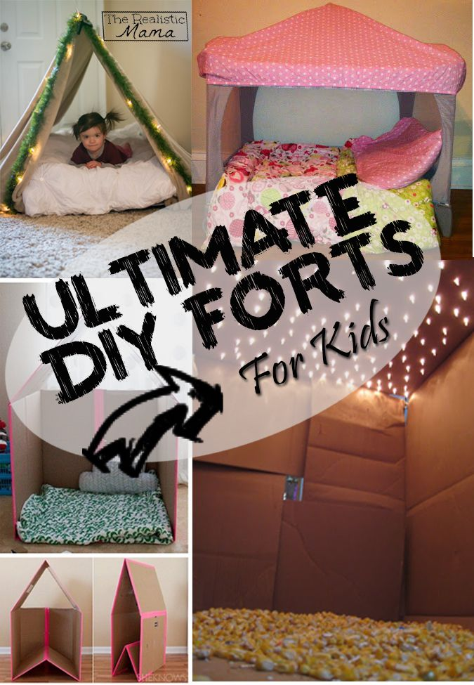 Great list of DIY forts that the kids are going to love and truthfully so will Mom and Dad.