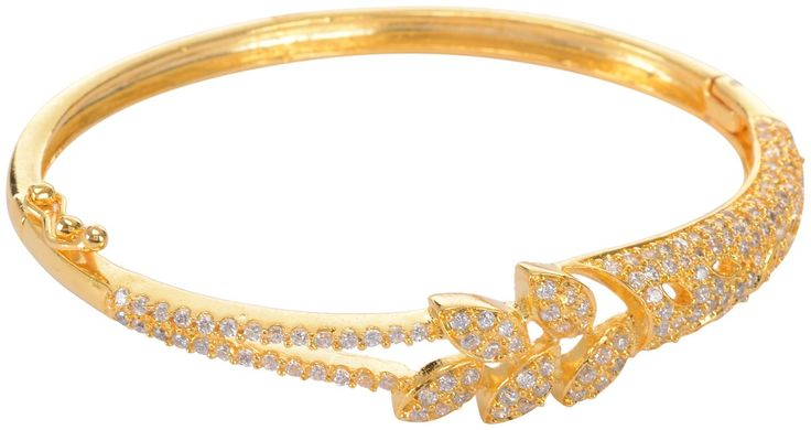 Buy Gold Plated czech studded bangle/kada/Bracelet for Women Online at Low Prices in India | Amazon Jewellery Store - Amazon.in