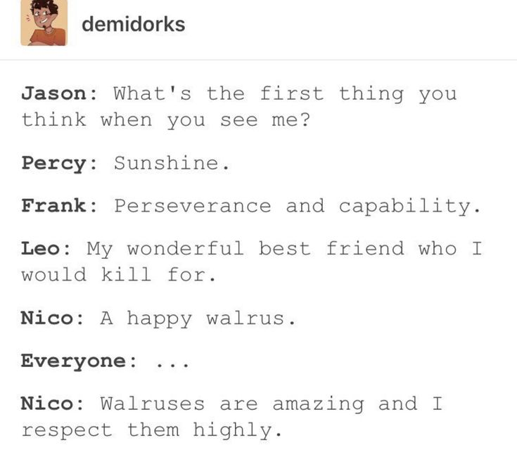 But Percy though...