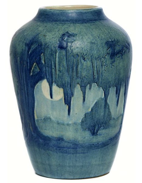 Newcomb pottery - love those mossy trees! c. mid 1920s