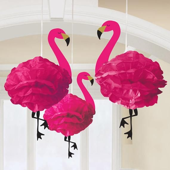 3 Flamingo Hanging Decorations Tropical Party Girls Party Pink Party Hanging Decor Flamingo Party Flamingo Fun Hot Summer In 2020 Flamingo Decor Flamingo Party Paper Party Decorations