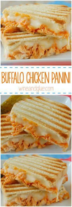 Buffalo Chicken Panini   A delicious and simple sandwich you won't be able to get enough of!