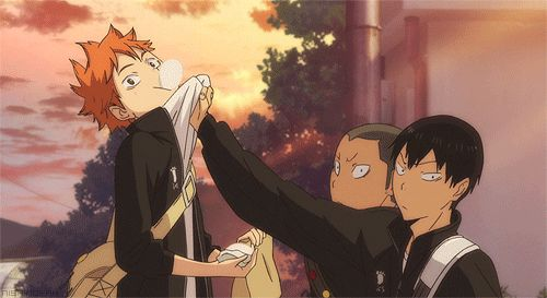 Haikyuu!! ~~ Sometimes, you just gotta drop whatever you're doing... or whoever you're holding.
