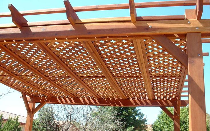 Lattice Roof Pergola Building A Pergola Outdoor Pergola