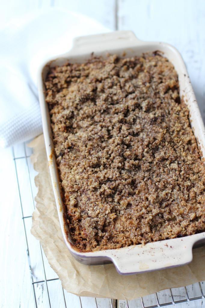 Appel kruimel cake Op Lekker en Simpel