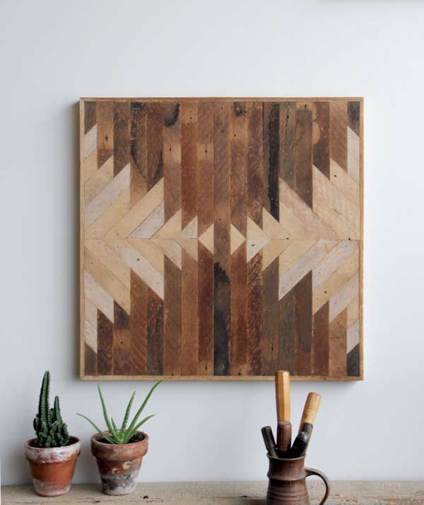 Reclaimed Wood Paintings by Ariele Alasko