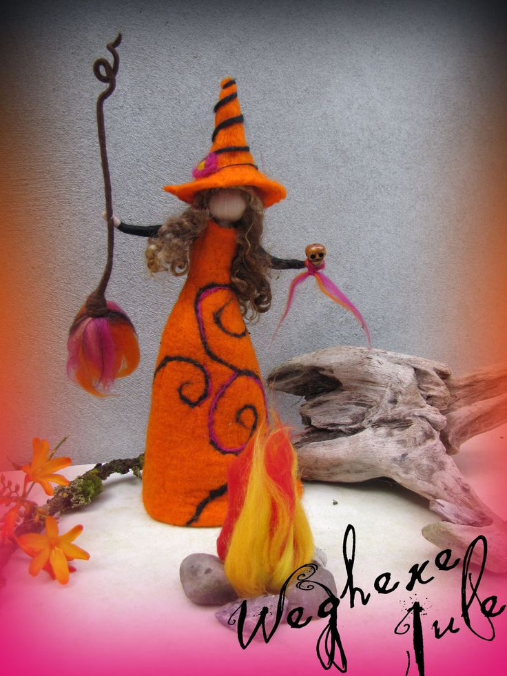 Jule - felted witch, neddle felted and wet felted. €28.00, via Etsy.
