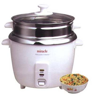 1. Miracle Model ME81Stainless Steel Rice Cooker - Stainless Steel Rice Cooker