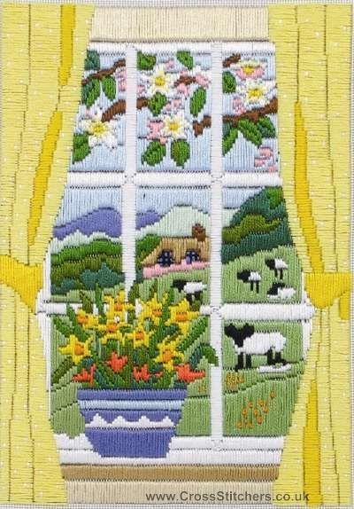 Spring Through The Window Long Stitch Kit by Anchor