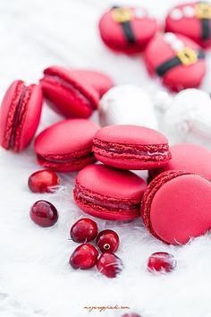 Cranberry #Macarons#