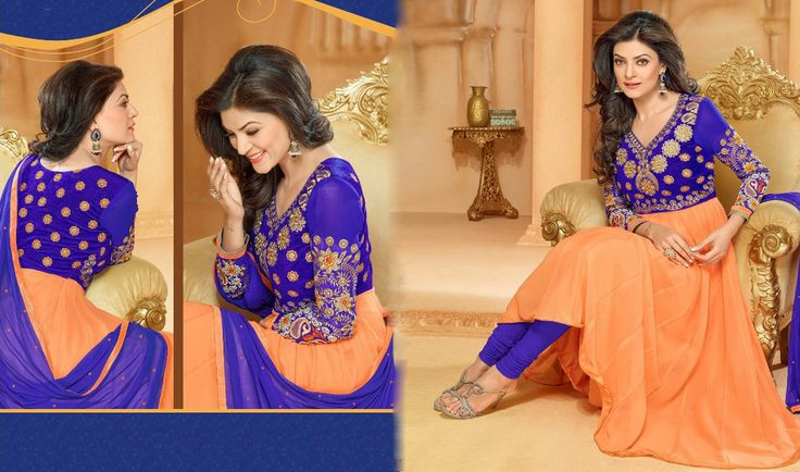 This #Navratri shop online from the breath taking collection of designer anarkali suits , Anarkali dresses online at discountable prices.  Checkout here:-  http://www.shoppers99.com/navratra_offer/sushmita_sen_designer_anarkali_suits