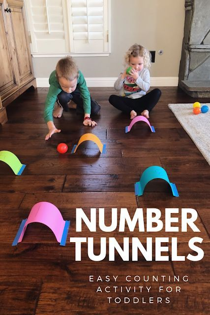Number Tunnels- Easy Counting Activity for Toddler…