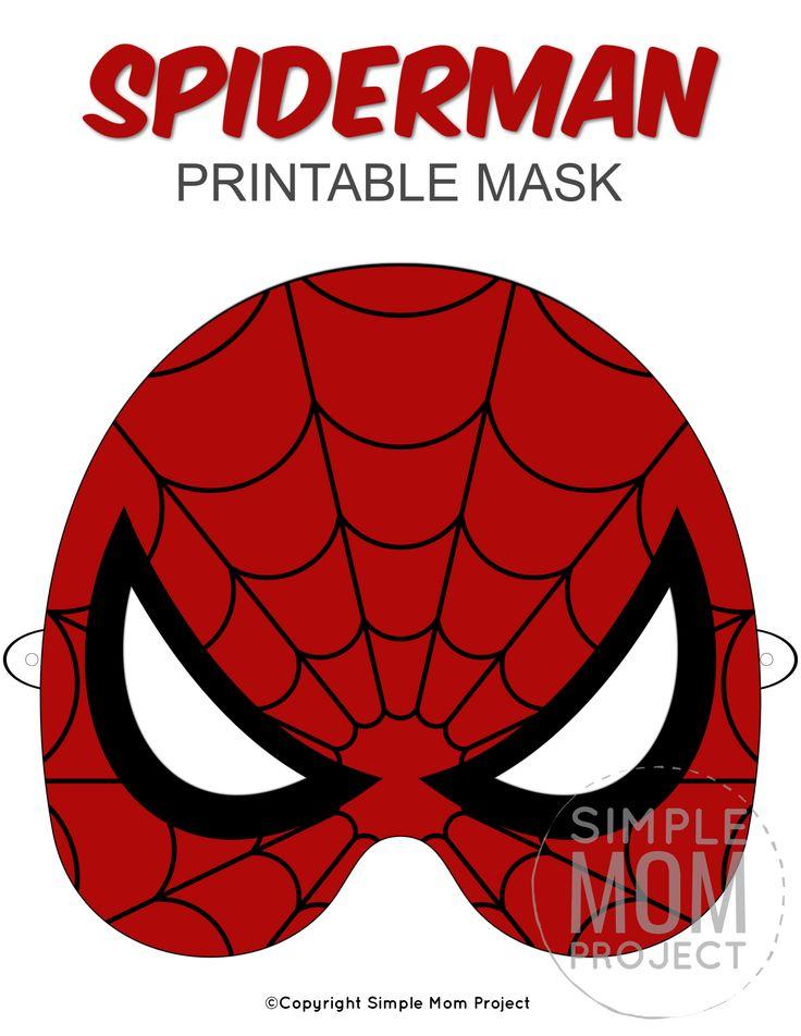 Free Printable Spider-Man Mask Templates - Simple Mom ...