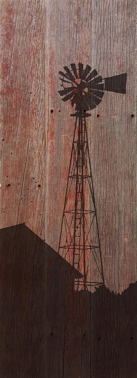 Reclaimed Barn Wood Wall Art Windmill by TKreclaimedART on Etsy