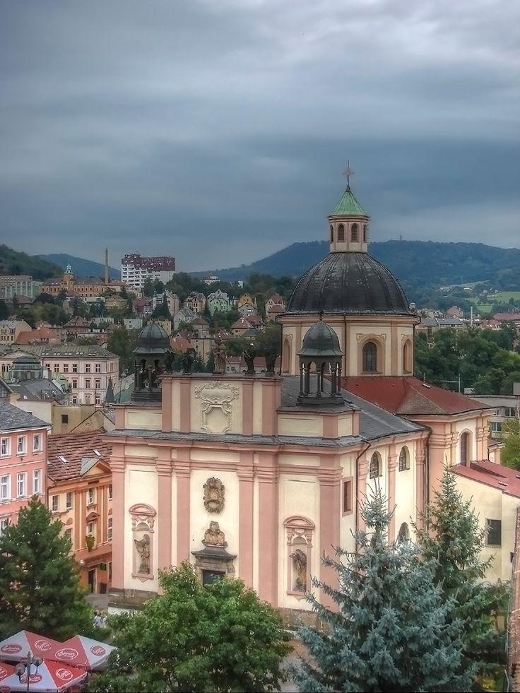 kostel Povýšení sv. Kříže (mesto Děčín,   1687–1691)
