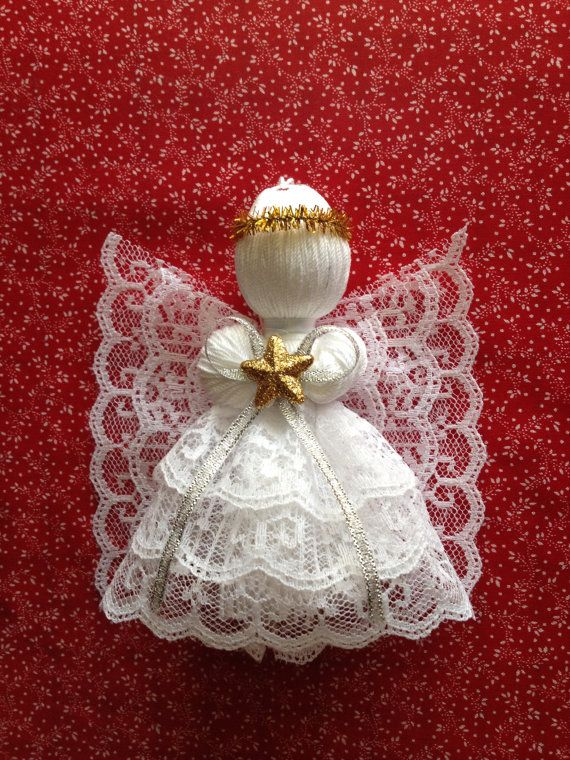 Lace Angel Ornament by Memesangel on Etsy, $5.00