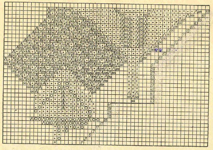 Скатерть 7 - схема. Э.Критеску 'Художественное вязание спицами'