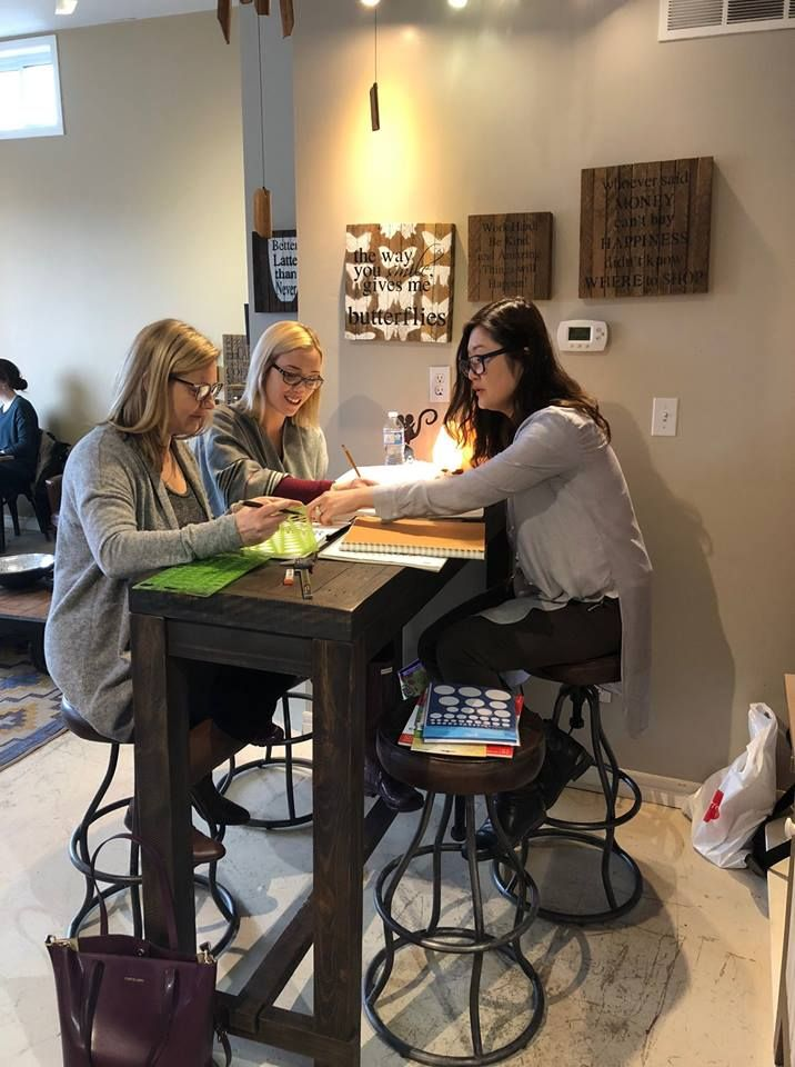 Dana's Design Team: Hand Sketch Class given by jewellery designer Gwen P. with Sharon S. and Jaimie A. . . #jewellery #jewelry #design #handsketch #workshop #PortPerry