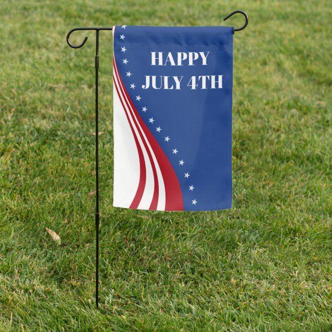 American Garden Banner For Fourth Of July Garden Flag Zazzle Com In 2020 Custom Garden Flags Fourth Of July Garden Flags
