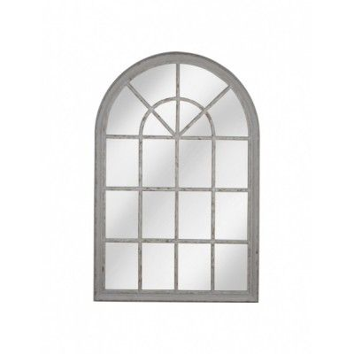 """Зеркало настенное серое в стиле прованс """"Французское окно"""" Creative"""