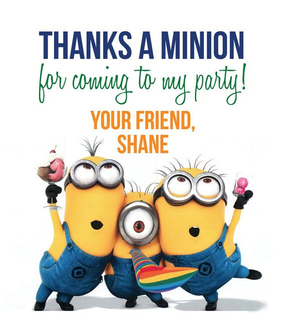 Minions Thank You Tags by LifeOnPurpose on Etsy