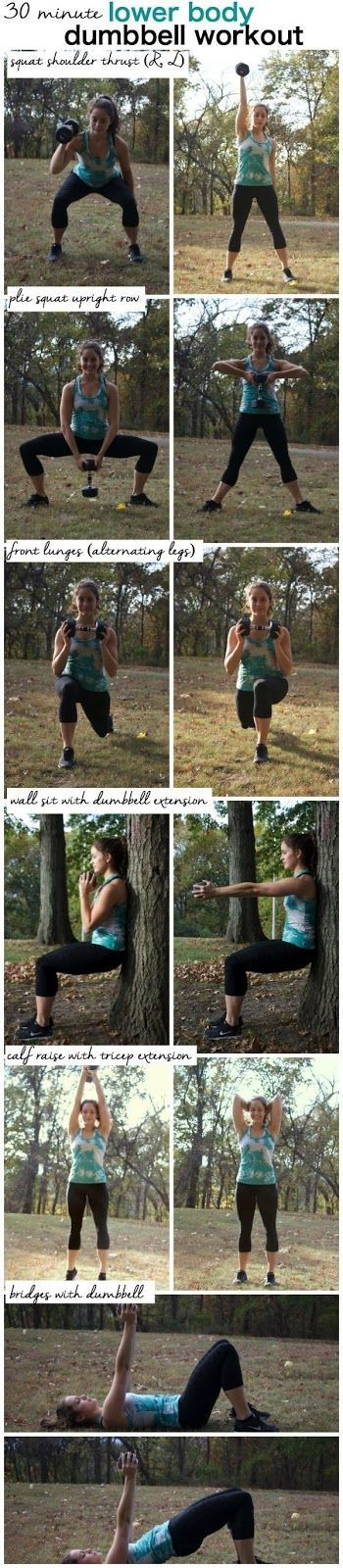 Lower Body Dummbell workout tabatta! Up the anti with this killer leg workout! http://www.connectthedotsginger.com
