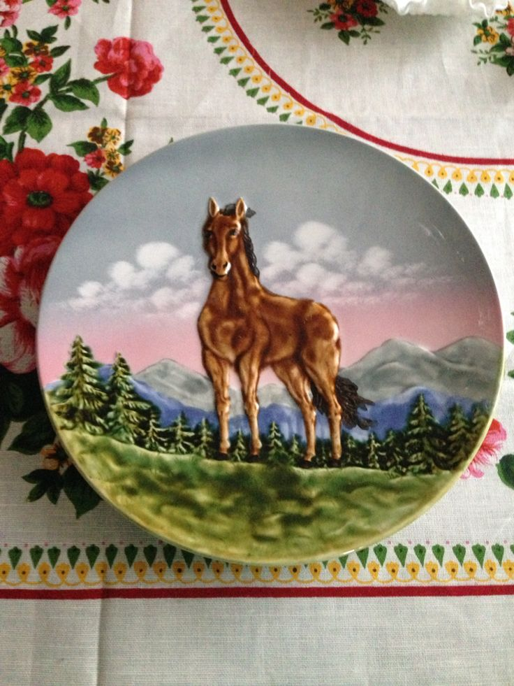 1950\u0027s Schramberg plate. & 21 best A - Vintage Collector Plates images on Pinterest | Dinner ...