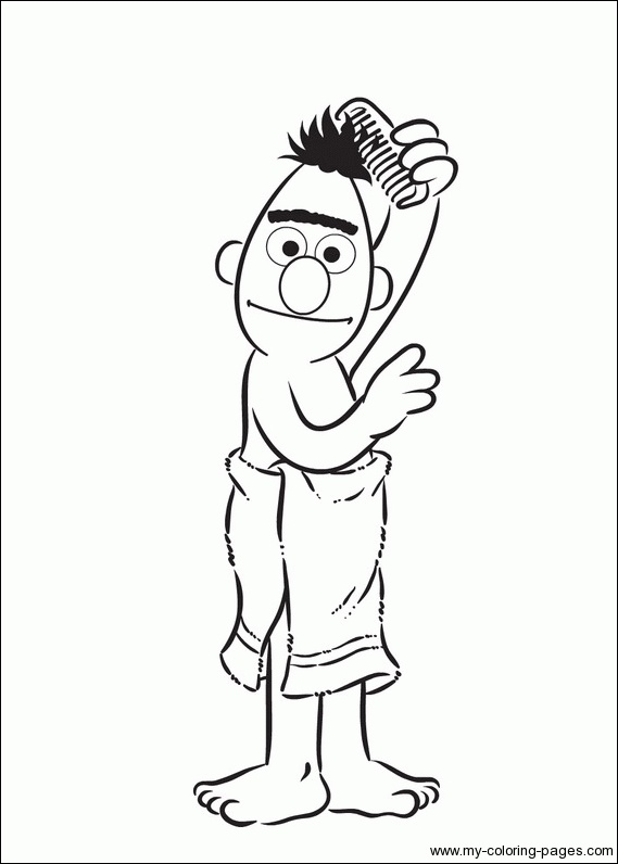 bert coloring pages - photo#18