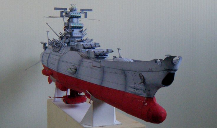 Space Battleship Yamato 2199, 1/500 scale paper craft model.   宇宙戦艦ヤマト2199ペーパークラフト1/500その6