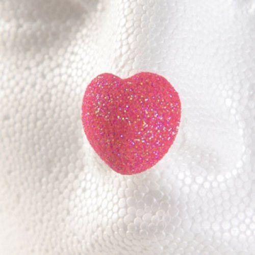 """ProKnows Clown Nose Tips - T5 Glitter Heart (Pink) - 3/4"""""""