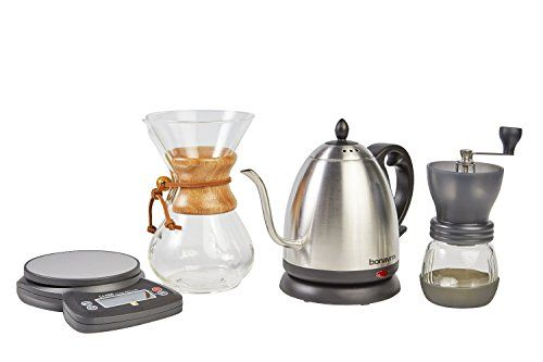 Expert Level CHEMEX Pour Over Coffee Set  Make BETTER COFFEE Chemex Kit  7 item coffee gift set  pourover coffee set  pourover kit pourover coffee kit  pour over set  pour over coffee kit >>> You can find out more details at the link of the image.