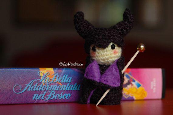"Maleficent Amigurumi from Disney's ""Sleeping Beauty"" (available on YapiHandmade Etsy store)"