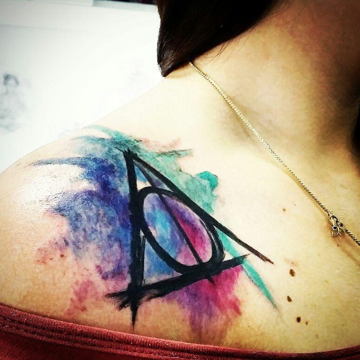 #tattoo #watercolortattoo #deathhallows