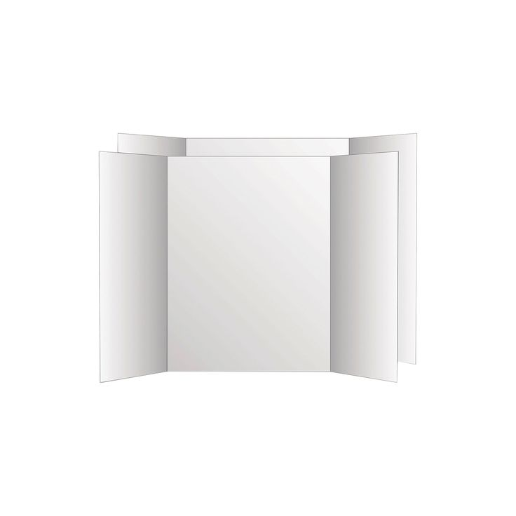 Eco Brites Too Cool Tri-Fold Poster Board - White