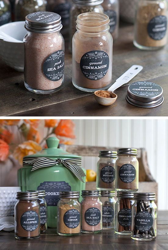 31 easy kitchen decorating ideas that won t break the bank for Kitchen jar decoration