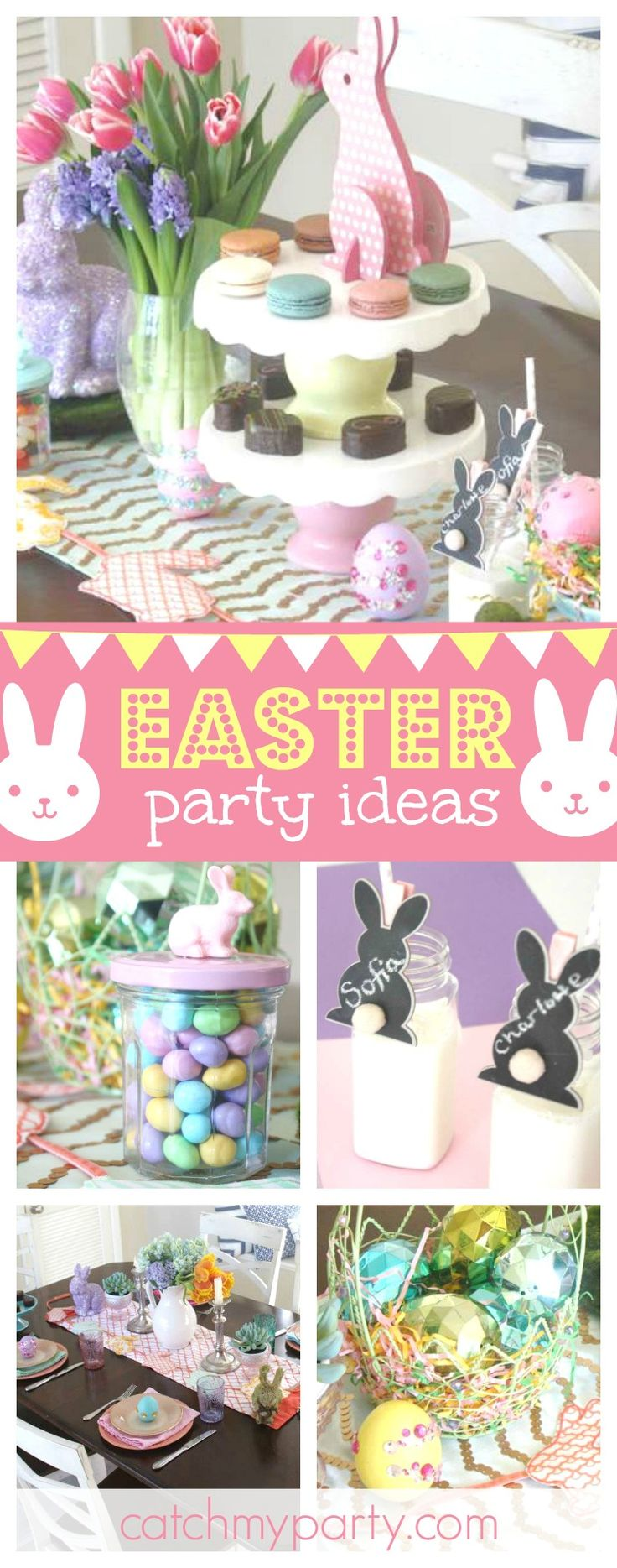 Loving this gorgeous Easter celebration. Sure to inspire!! The party favors are adorable!!See more party ideas and share yours at CatchMyParty.com