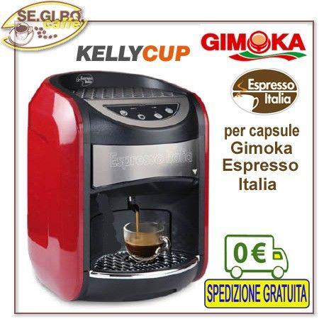 Macchina KELLY CUP per Gimoka Espresso Italia  a servizio capsule 32 mm. GIMOKA - Dimensioni: (L) 270 x (P) 300 x (H) 350mm -- Peso Kg 7 Garanzia anni 2 COMPLETAMENTE COSTRUITA E PROGETTATA IN ITALIA