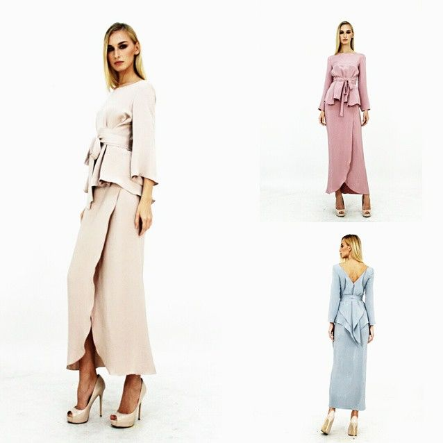 (Look 9) Reverse-wrap with sarong, all in crepe silk.  #aliabastamam #raya2015 #lookbook
