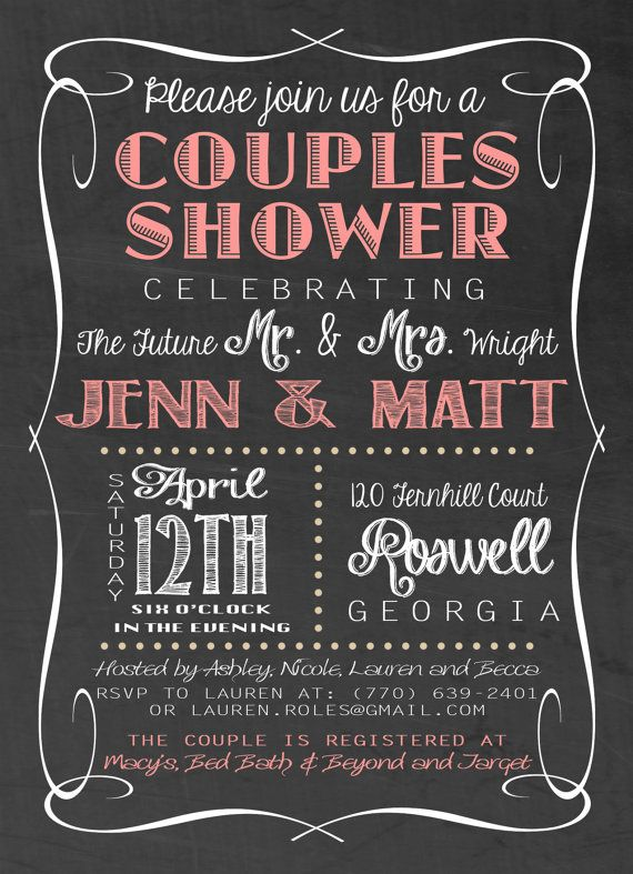 Best 25 Couples wedding shower invitations ideas – Couples Shower Wedding Invitations