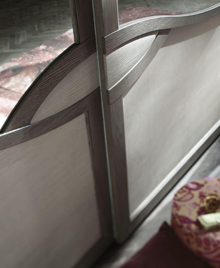 #letto #camera #zonanotte #comfort #funzionale #tradizionale #armadio #specchio #legno #mobile #armadio #fasolin #arredamento #romantic Camera da letto Fasolin.Modello Trèsor Notte