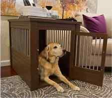 Large Dog Kennel Cage Crate Pet Eco Wood Oversized Puppy Bed End Table Furniture