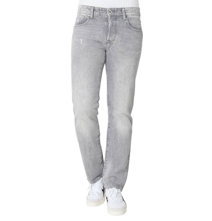 Jeans, Regular Fit, Straight Leg, Destroyed-Effekte