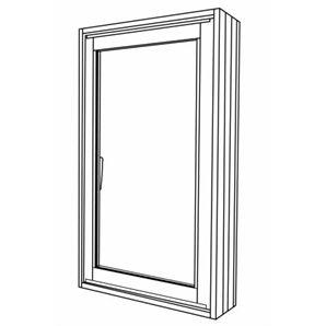 Polar Eco-View 600 x 945mm Double Glazed Open Black Window